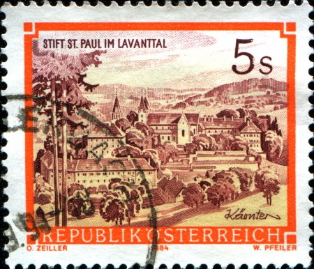 paul:  AUSTRIA - CIRCA 1984  A stamp printed in Austria shows  St  Paul Stock Photo