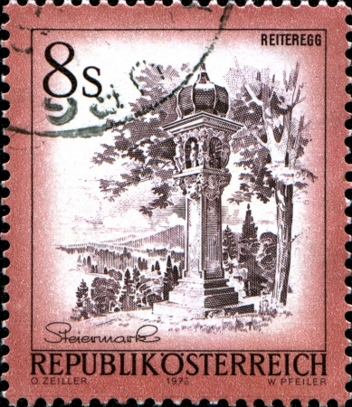 AUSTRIA - CIRCA 1973  A stamp printed in Austria shows Reiteregg, from the series  Sights in Austria , circa 1973 Stock Photo - 17958459