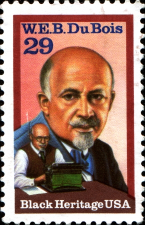 bois: USA - CIRCA 1992  A stamp printed in the United States of America shows social activist W E B  Du Bois, circa 1992