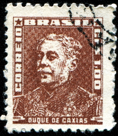 silva: BRAZIL - CIRCA 1954  A stamp printed in Brazil shows shows Luis Alves de luma e Silva, Duke of Caxias  1803-1880 , marshal, circa 1954