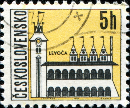 CZECHOSLOVAKIA - CIRCA 1965  A stamp printed in the Czechoslovakia, shows the city of Levoca, circa 1965