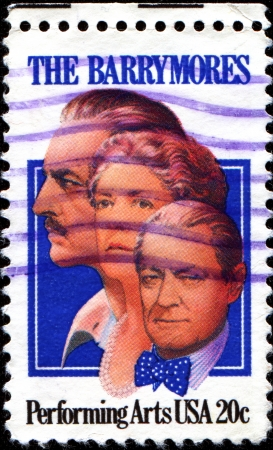 lionel: USA - CIRCA 1982  A stamp printed in United States of America honor the memory of actors John, Ethel and Lionel Barrymore, circa 1982