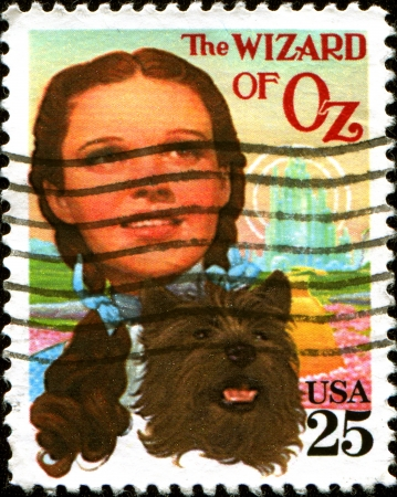 oz: UNITED STATES - CIRCA 1990  A stamp printed in United States dedicated The Wizard of Oz, circa 1990 Editorial