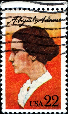 united states postal service: USA - CIRCA 1985: A stamp printed in United States of America shows Abigail Adams, circa 1985  Editorial