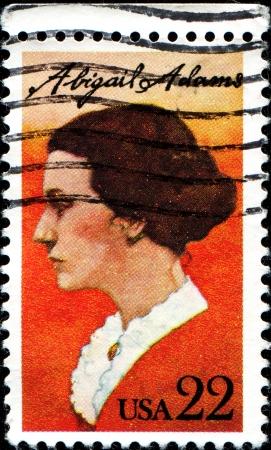 adams: USA - CIRCA 1985: A stamp printed in United States of America shows Abigail Adams, circa 1985  Editorial
