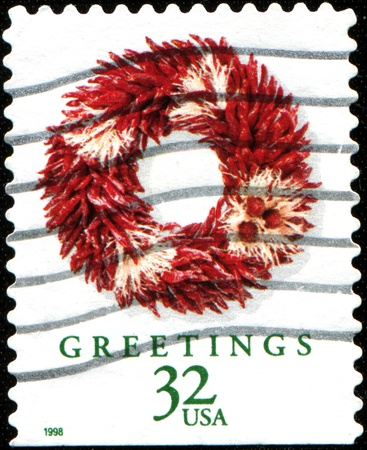 camel post: USA - CIRCA 1998: A stamp printed in United States of America dedicated Christmas, circa 1998