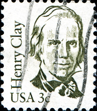 USA - CIRCA 1986  A stamp printed in United States of America shows Henry Clay, lawyer, politician and skilled orator who represented Kentucky in both the Senate and in the House of Representatives, circa 1986