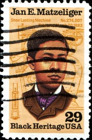 USA - CIRCA 1991 A stamp printed in United States of America shows Jan E Matzeliger, circa 1991 Redakční