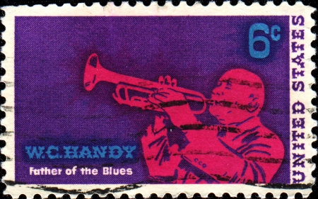 USA - CIRCA 1968  A stamp printed in United States of America shows William Christopher Handy, a blues composer and musician  He was widely known as the  Father of the Blues  circa 1968