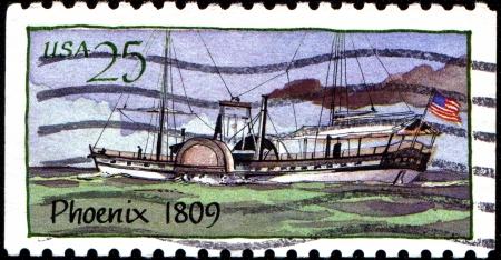 wheeler: USA - CIRCA 2009  A stamp printed in United States of America shows wheeler Phoenix 1809, circa 2009  Editorial