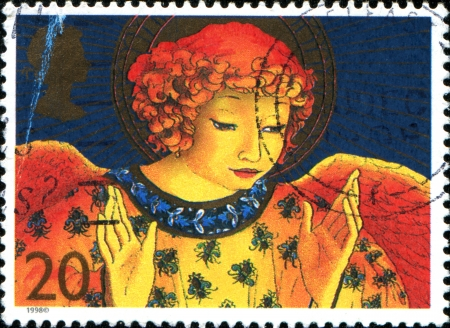 UNITED KINGDOM - CIRCA 1998  A stamp printed in Great Britain shows an angel, circa 1998
