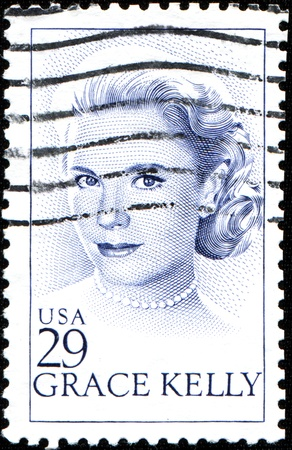 north hollywood: USA - CIRCA 1993  A stamp printed in United States of America shows Grace Patricia Kelly was an American actress and Princess consort of Monaco, circa 1993  Editorial