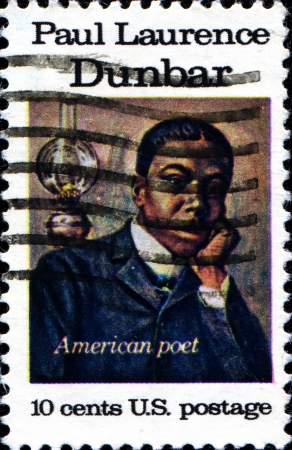 laurence: USA - CIRCA 1975  A stamp printed in United States of America shows Paul Laurence, american poet, circa 1975 Editorial
