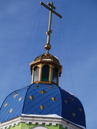 top of Seraphim of Sarov Church.    photo