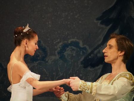 lugansk: UKRAINE, LUGANSK - February 5, 2014: Donetsk Opera dancers perform The Nutcracker Ballet  in Lugansk