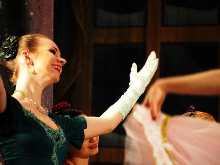 balletic: UKRAINE, LUGANSK - February 5, 2014: Donetsk Opera dancers perform The Nutcracker Ballet in Lugansk