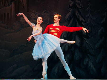 UKRAINE, LUGANSK - February 5, 2014: Donetsk Opera dancers perform The Nutcracker Ballet  in Lugansk