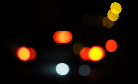 Abstract circular bokeh defocused lights background Stock Photo
