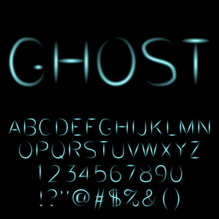 Ghost font.