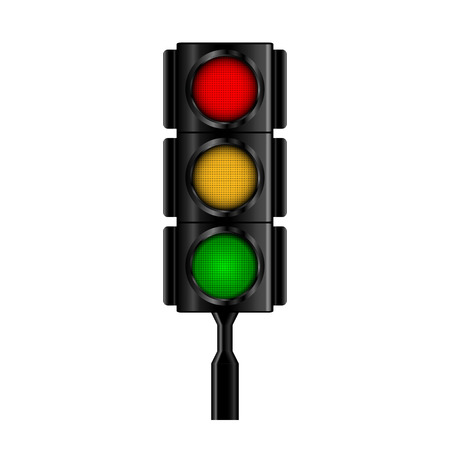 light green: Traffic light. Illustration
