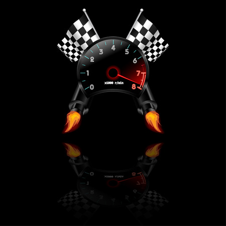 rpm: Racing theme with reflections.
