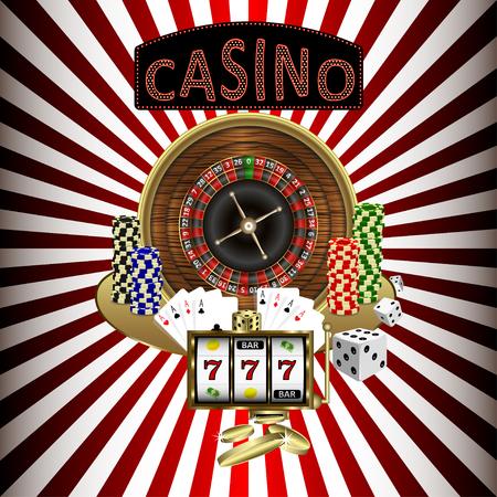 Casino theme with hypnotizing background. Vector illustration. Stock Illustratie