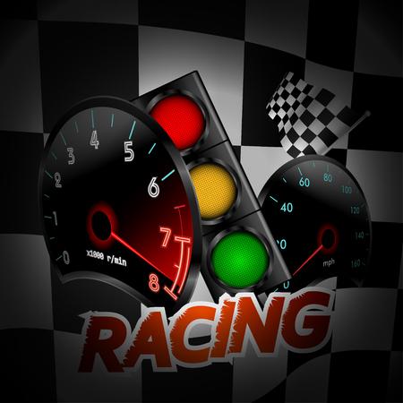 Racing background. Vector illustration Ilustração