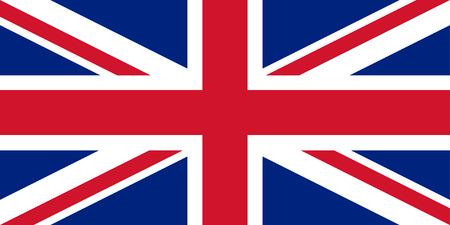 bandiera inglese: Regno Unito bandiera Union Jack con proporzioni perfette e colori esatti. Illustrazione vettoriale.
