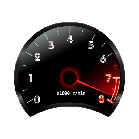 rev counter: Tachometer revolution-counter , RPM gauge. Vector illustration