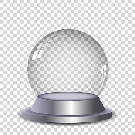 Crystal ball met reflectie geïsoleerde en transperent. Vector eps10. Vector Illustratie