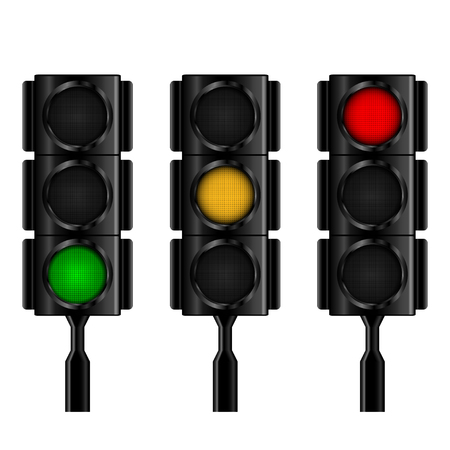 red traffic light: Traffic lights with selective lightning .