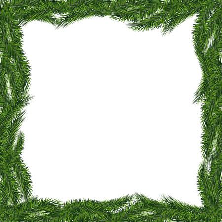 Christmas tree frame isolated. Vector eps10