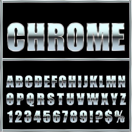 metal font and symbols for design. Stock Illustratie