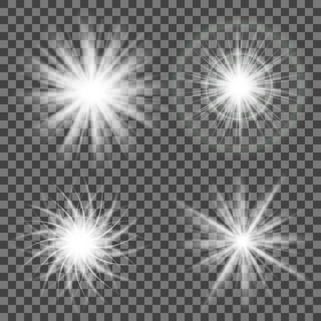 Sparkling light isolated on gray .Glowing light on transparent background.