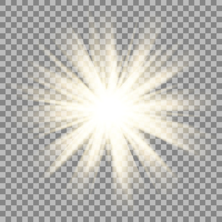 shinny: Sun rays on transparent background. Star flare effect. Shinny sparkle. Illustration