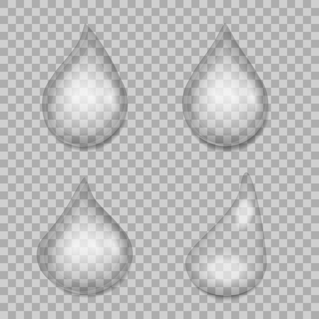 Water drops with transparency blending (ready to be used on raster images). illustration.