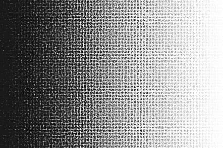 tones: Halftone randomized moire pattern.Black dot pattern. Circle transition pattern background. Illustration