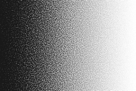Halftone randomized moire pattern.Black dot pattern. Circle transition pattern background. Vettoriali