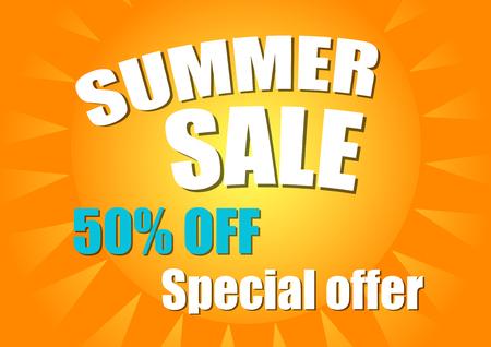 Summer sale poster. Sale background.