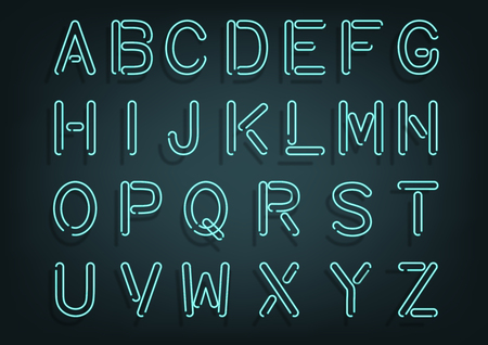 Glowing tube typeset with shadow.