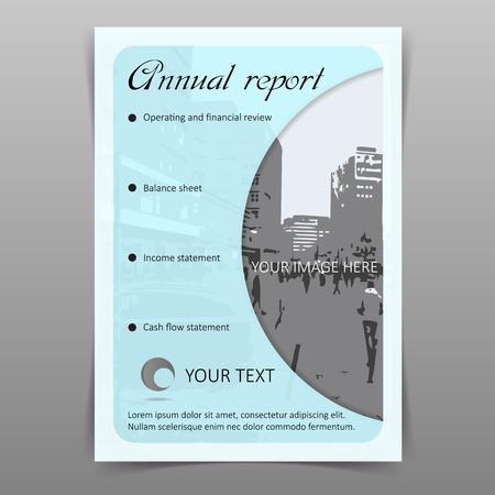 Annual company report cover design template
