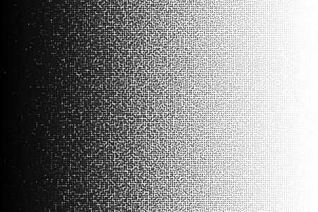 Modèle de dégradé de demi-teinte vecteur fait de points avec des cercles de taille aléatoire. Vecteurs
