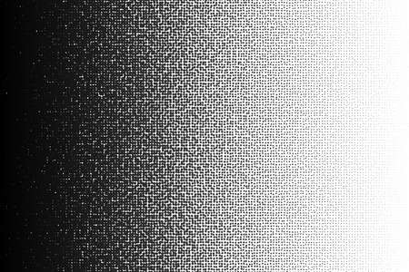 Vector halftone gradient pattern made of dots with random size circles.