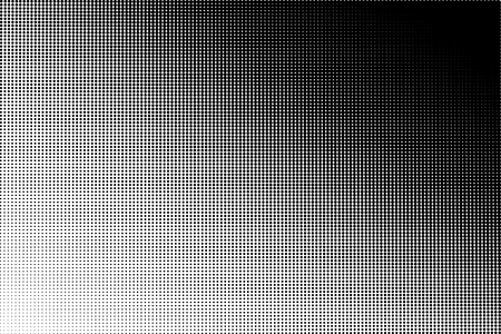 Vector halftone transition pattern made of dots with a4 proportions. Ilustração