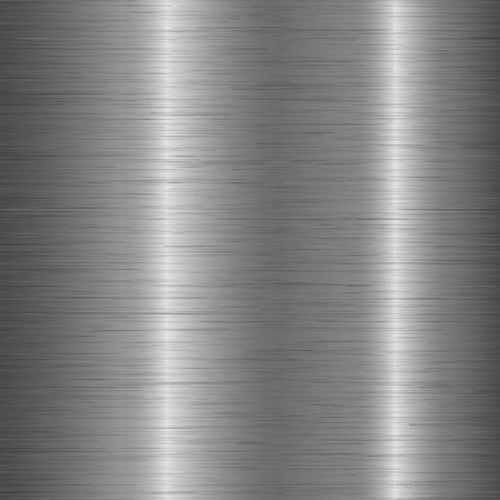 Polished metal chrome brushed texture background. Aluminium rough texture for design concept. Vector.