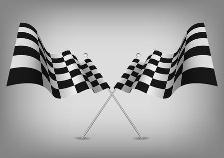Geruite vlaggen racen symbool geïsoleerd op wit. Vector. Stockfoto - 71540000