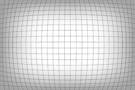 Distorted fish eye grid mesh netting pattern. Ilustração