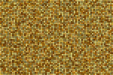 Golden pattern made of glitter dots with randomized opacity. Vector. Ilustração
