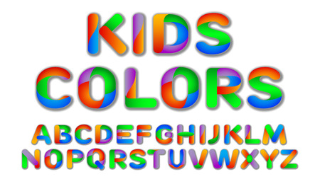 Fun Multi Color Kids Custom Font design