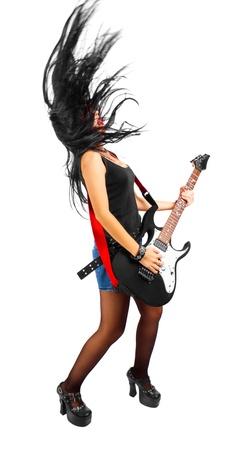 rocker girl: Bastante guitarrista tocando la m�sica rock